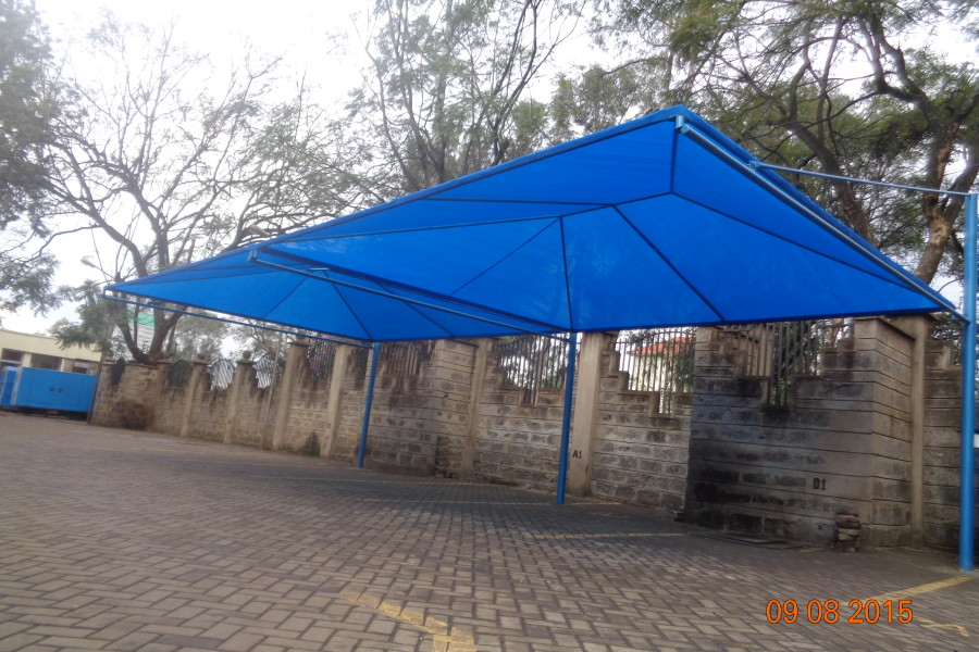 Blue Shadenet Car parking shade