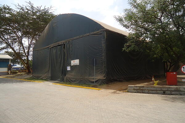 storage barn for grain in Kenya